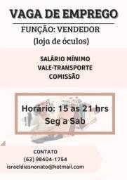 Título do anúncio: VAGA DE EMPREGO PARA VENDEDOR