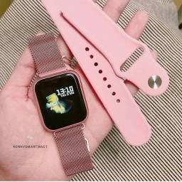 P70 smart wacth coloca foto na tela 2 pulseira