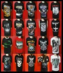 Camisetas de Bandas de Rock, Metal, Séries, Variadas.