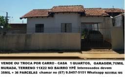 Vende ou Troca Casa Quitada 35mil + parcelas