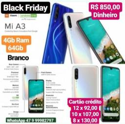 Celular Xiaomi Mi A3 64GB / 4G / Dual Sim Branco