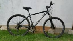 Bike 29 alumínio 21 marchas com amortecedor