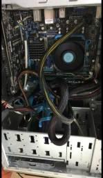 Placa-mae+processador+memória RAM