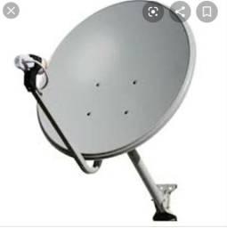 Antena parábola + cabo de 50 mts