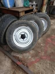 Jogo rodas jeep aro 16 e aro 15 da Rural
