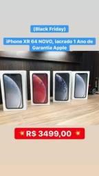 (Black Friday) iPhone XR 64 NOVO, lacrado 1 Ano de Garantia Apple