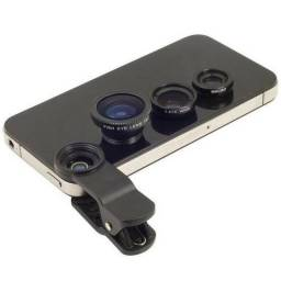 Kit de lentes fotográficas para usar com cel