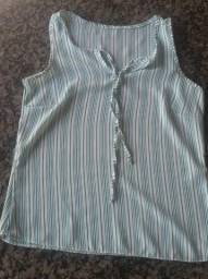 Bluzinha regata listrada