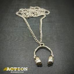 Cordão fone de ouvido - cor prata