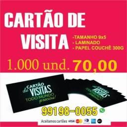 Cartão de Visita 9x5 300g Laminado Promoção