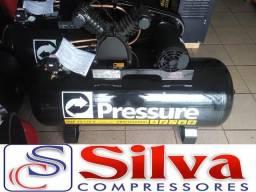 Compressor de ar 15 pes 175 litros 140 libras - Pressure