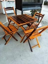 Mesas e cadeiras dobravéis NOVAS