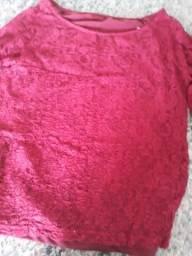 Blusa linda bordo