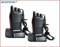 Kit 2 Radio Ht Uhf 16 Canais Comunicador Profissional 777s - Serve Pra Vários Serviços
