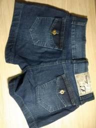 Short jeans azul