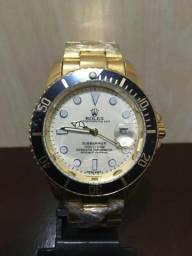 087859577fa Relógio Rolex Submariner Dourado fundo Branco Unissex Novo PROMOÇÃO