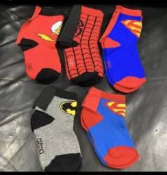 Meias de super heróis