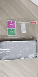 Kit proteção Oneplus 5T - Capa + 2 pel vidro display + 2 pel vidro câmera traseira