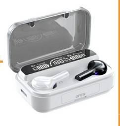 Tws bluetooth fones de ouvido sem fio led 9d esportes, bluetooth 5.0 fone com microfone