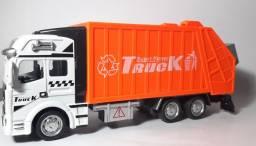 Miniatura Caminhão Coletor Carrinhos Coleção Escala 1/32