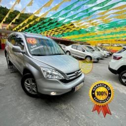Honda Cr-v Exl Top de Linha Com Teto Solar Couro e Multimidia + GNV - 2010
