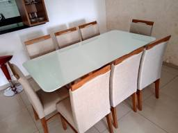 Título do anúncio: Mesa 8 completa de jantar pintura laka e madeira