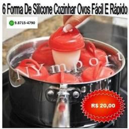 6 Unidades Formas De Silicone Para Cozinhar Ovos Fácil E Rápido Formas Egg