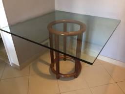 Título do anúncio: Mesa com tampo de vidro e 4 cadeiras