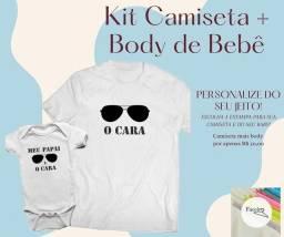 Camiseta e body de bebê