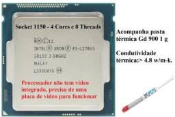 Intel Xeon E3 1270 v3 Usado, 3,5 GHz, 4/8 Similar I7 4770