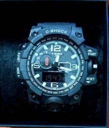 Relógio Shock Preto à prova de água e oxidação.