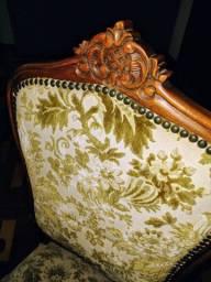Cadeiras Medalhão Luiz XV Imbuía talhada