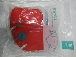 Mascara Kn95 Vermelha Pacote c/10 Unidade
