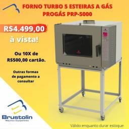 Forno Turbo Progás 5 esteiras a Gás PRP-5000