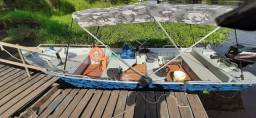 Título do anúncio: barco de alumínio 19 pés poli marina com motor Mercury 60 hp!!!