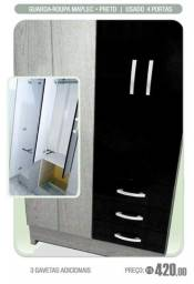 Guarda roupa 4 portas 3 gavetas