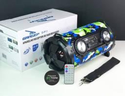 Título do anúncio: Caixa De Som Canhão Amplificada Bluetooth Potente Com Alça E Controle Grasep <br>