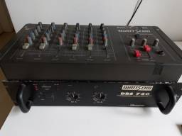 Título do anúncio: Kit Mesa de Som + Amplificador Wattsom  Funcionando  Perfeitamente!