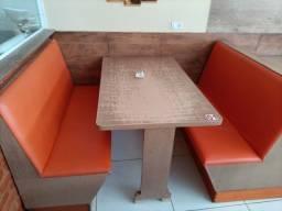 Título do anúncio: Conjuntos de mesas com sofás para lanchonete