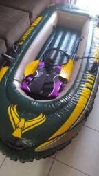 Barco inflável Seahawk 2 com 2 remos e 1 salva vidas