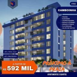 Apartamento para Venda em Cabedelo, Camboinha, 3 dormitórios, 2 suítes, 1 banheiro, 1 vaga
