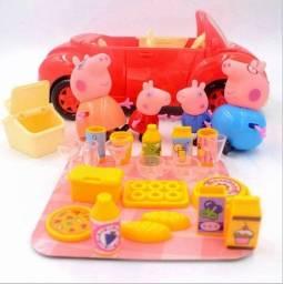 Peppa Pig Carro + Picnic Acessórios Pronta Entrega