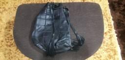 Bolsa mochila de couro artesanal