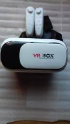 Título do anúncio: Óculos realidade virtual celular + dois controles