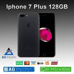 Título do anúncio: iPhone 7 Plus Preto 128GB - Aparelho de Vitrine - Sem marcas de Uso