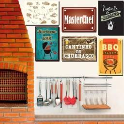 Placas Decorativas para Cantinho do Churrasco Em Mdf 3mm Churrasqueira e Bar 28x20cm