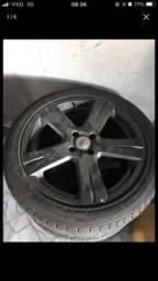Título do anúncio: Roda 17 Tsw Xtreme furação 4/100 2 pneus novos , 2 meia vida 215/45