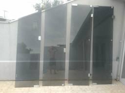 Portas de vidro temperado sanfonada