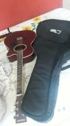 Violão folk elétrico Giannini