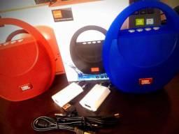 Caixa de Som KJ-Jbl Bluetooth Alça integrada para facilitar o transporte